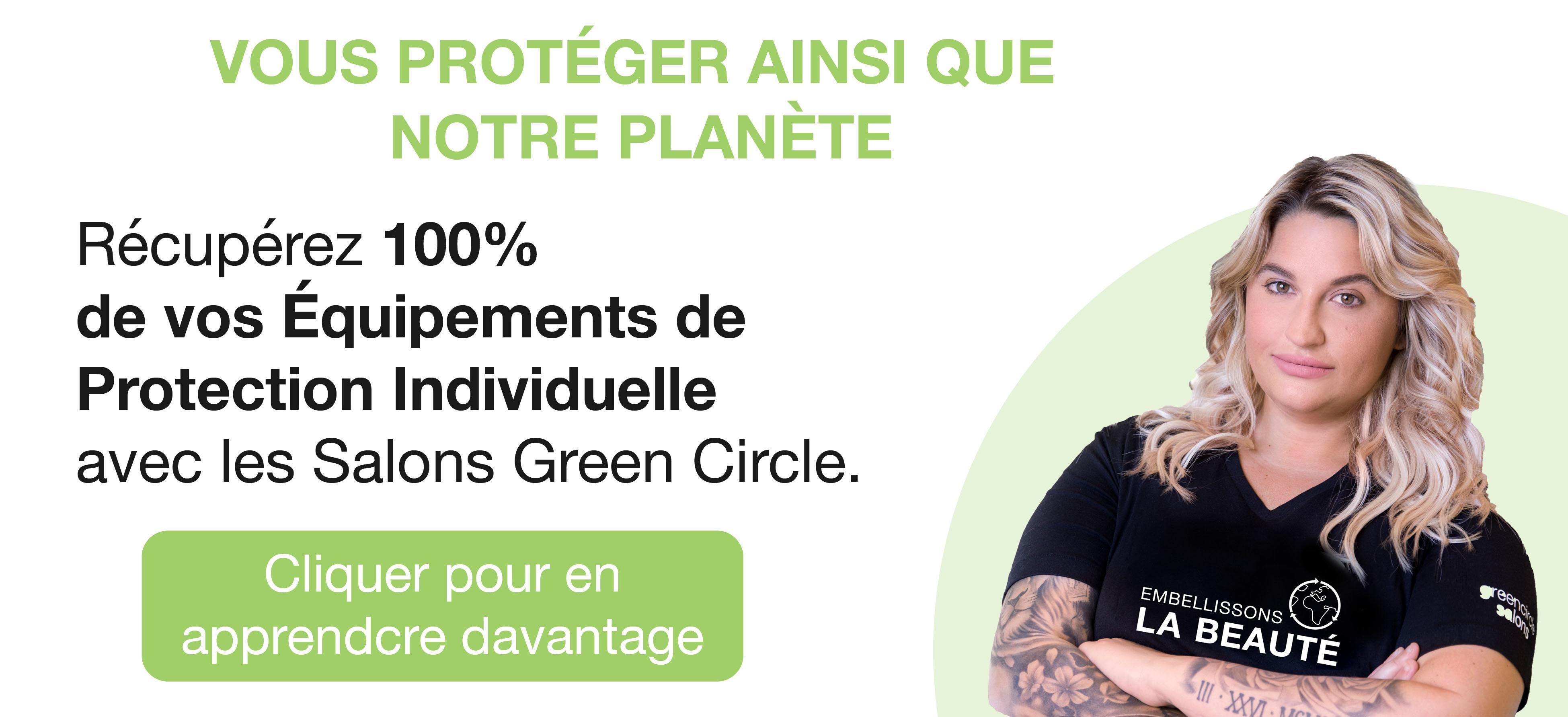 Récupérez 100% de vos équipements de protection individuelle avec les Salons Green Circle